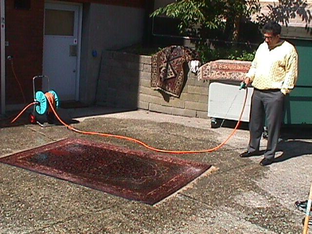rens af ægte tæpper